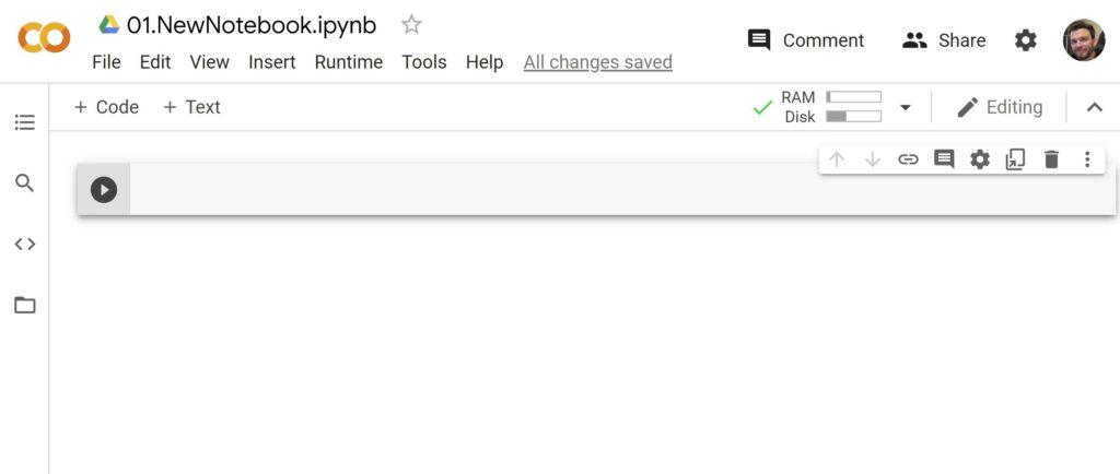 Ноутбук (блокнот) Google Colab
