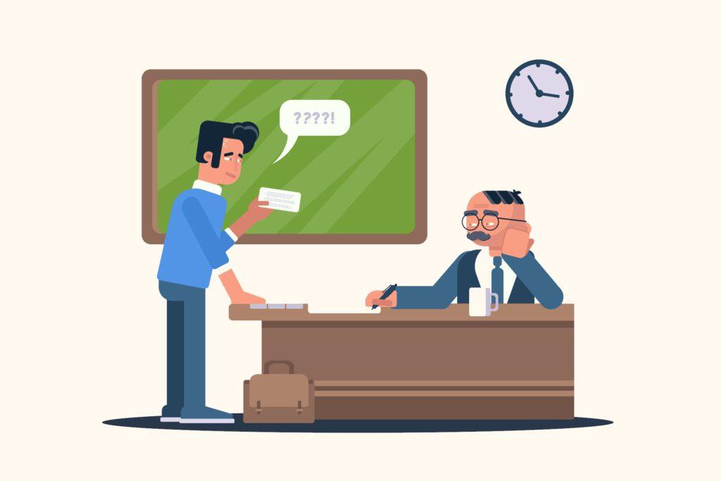 обучение модели: пример студента на экзамене